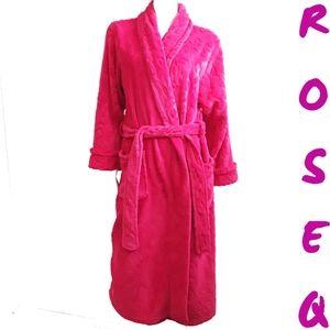 Carole Hochman pink belted bathrobe
